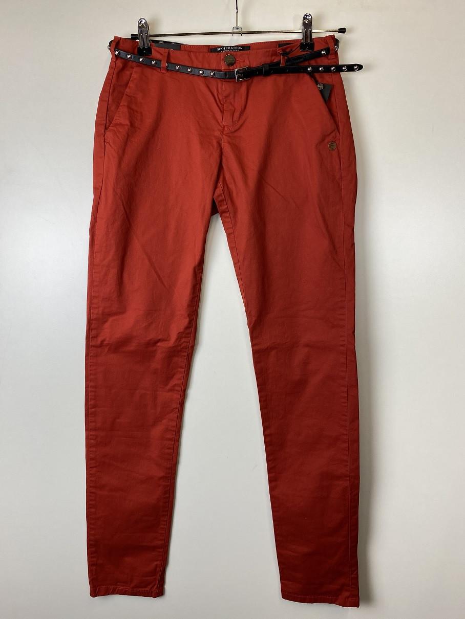 Штани жіночі Maison Scotch колір червоний розмір 26/32 арт 101966288016-FWLM
