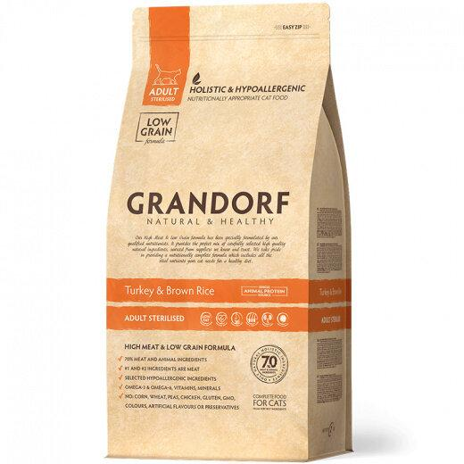 Grandorf (Грандорф) Turkey & Rice Adult Sterilized сухой корм для стерилизованных кошек с индейкой, 6 кг