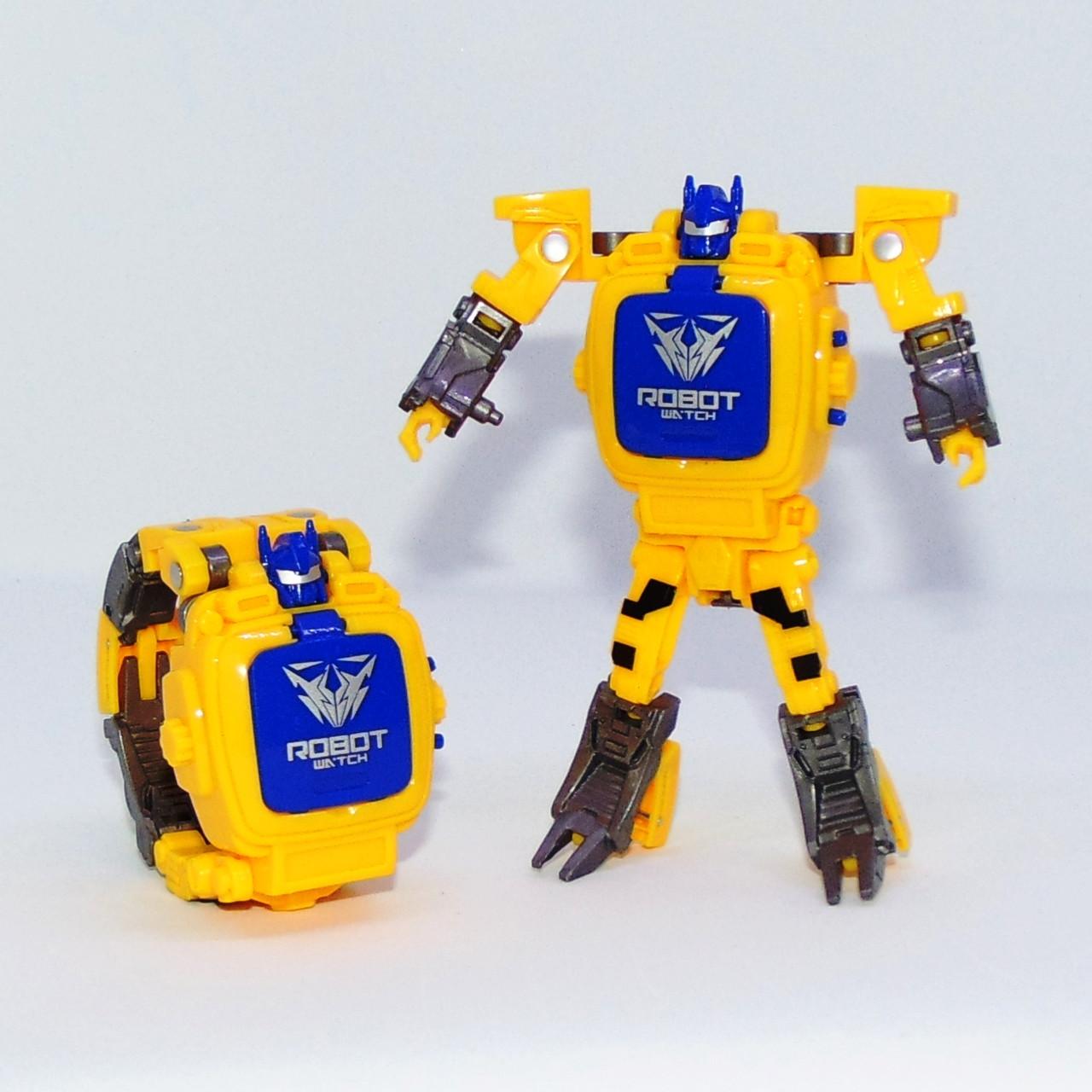 """Детские наручные часы игрушка """"Робот-трансформер"""" (желтый)"""