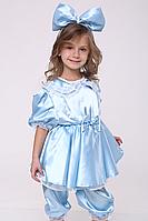 Премиум! Мальвина Голубой Новогодние Костюмы для детей, Комплектация 3 Элемента, Размеры 3-6 лет, Украина