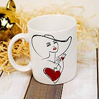 Чашка белая на подарок на 8 марта 350 мл