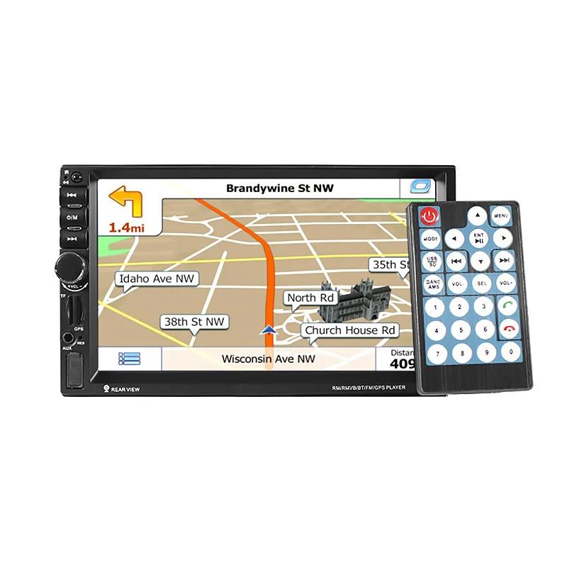 """Магнитола с экраном 2DIN Pioneer 7021G с навигатором на Windows 7"""" сенсорный GPS MP3 пульт управления"""