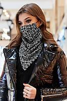 ✔️Шейный платок-маска двухсторонняя, на резинках разные расцветки