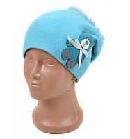 Детская шапка голубая Мишка