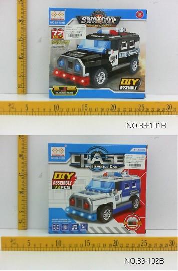 Конструктор поліція 2 види 72 деталей у коробці 89-101B/89-102B