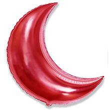 """Фольгована кулька місяць червоний 32"""" Flexmetal"""