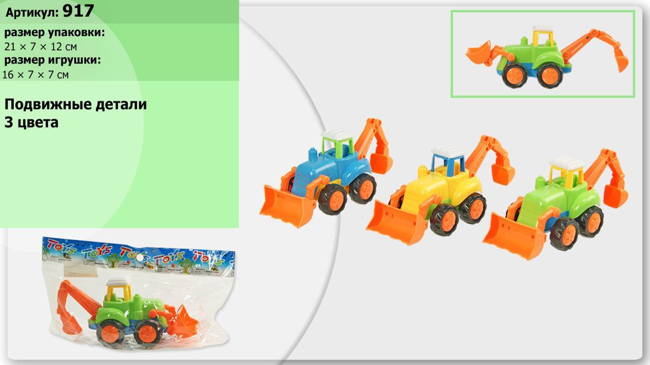 Трактор інерційний 3 кольори в пакеті  917