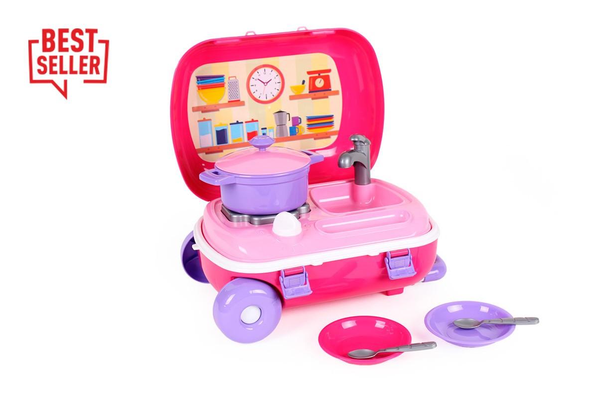 Іграшка «Кухня з набором посуду ТехноК», 6061 (3шт) валіза 34.5х25х16 см
