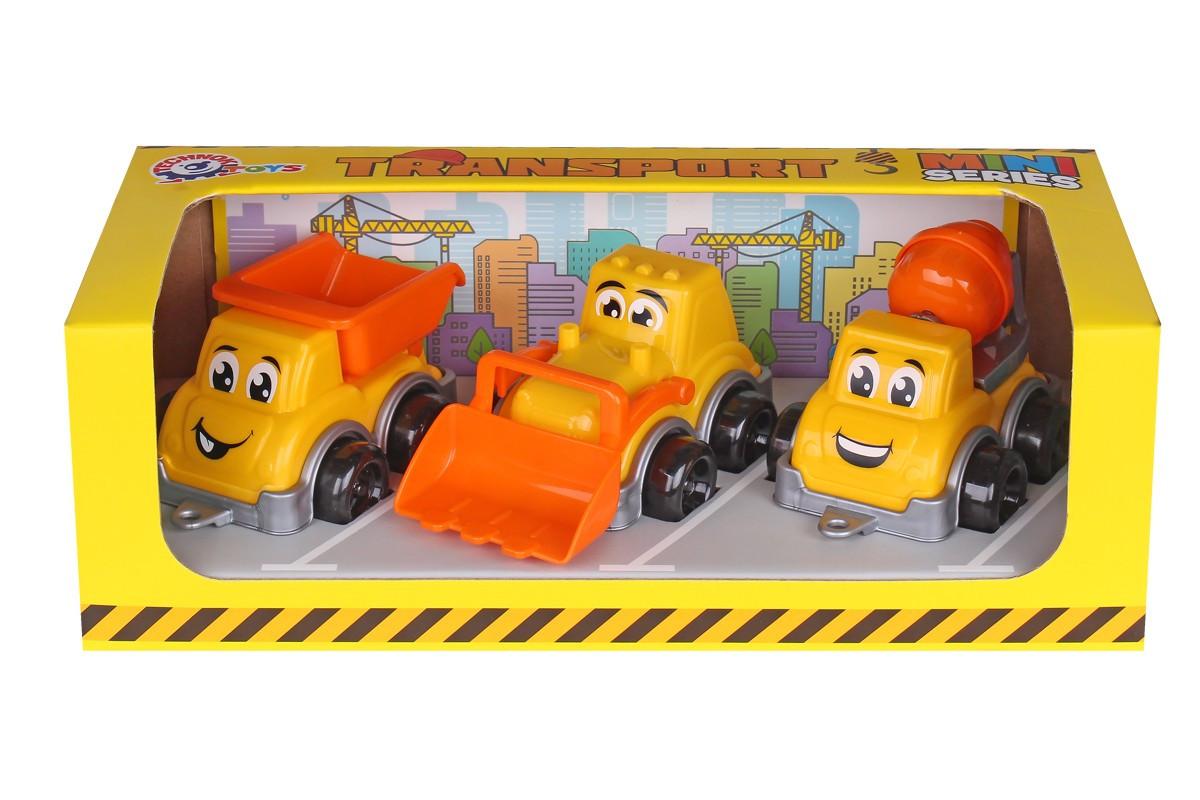 Іграшка ТехноК Транспорт Міні  3 шт у наборі в коробці 6160