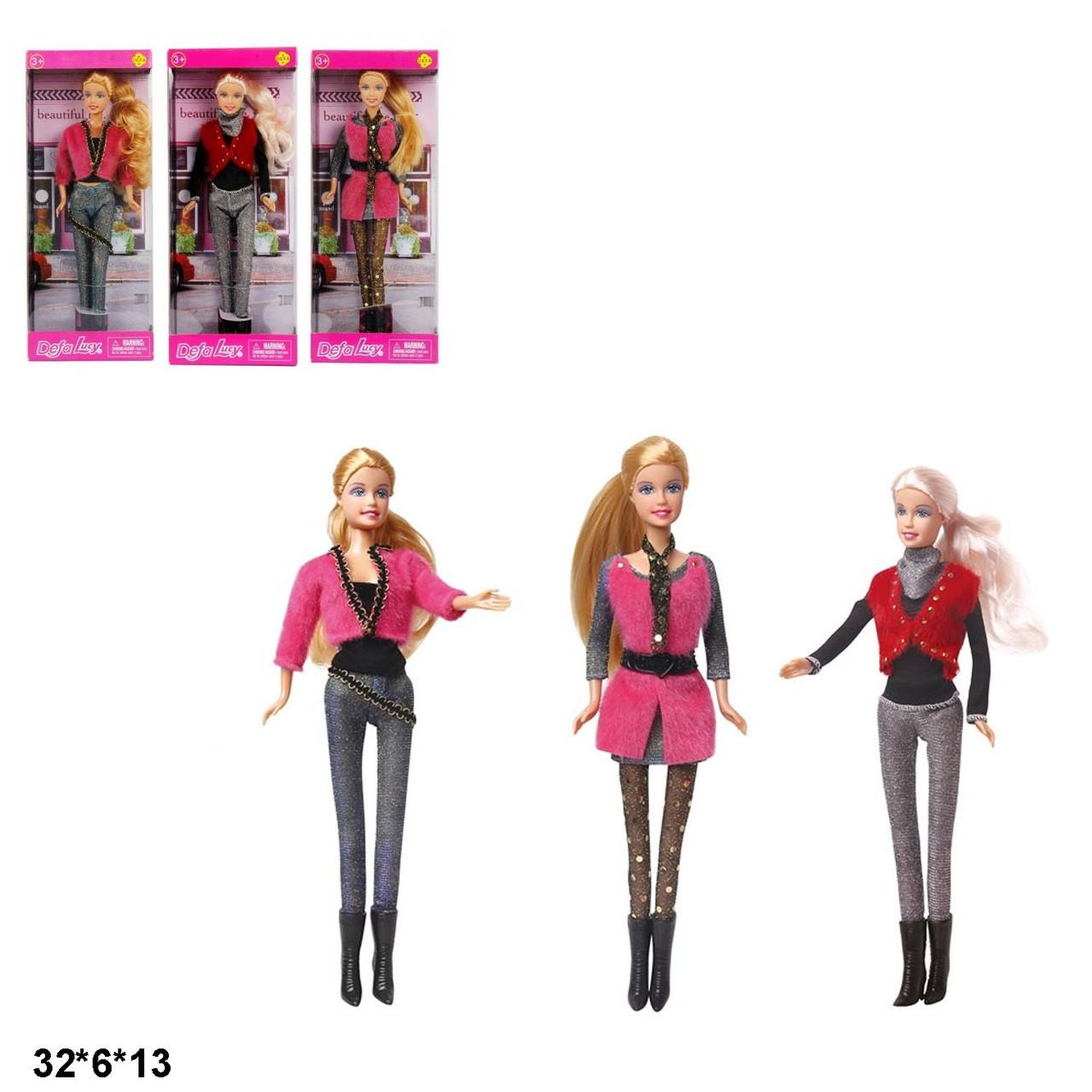Лялька типу Барбі Defa 3 види 29 см у коробці  8273