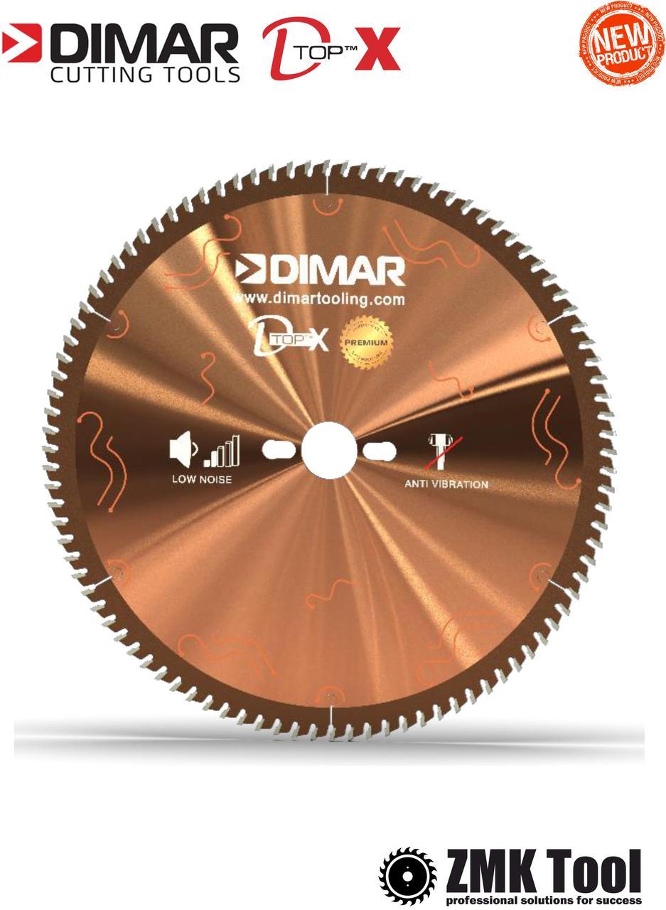 Основна пила DIMAR DFSQ D-TOPX 300 96Z 3.2/2.2 d=30 для розкрою ДСП/МДФ з покриттям D-COAT