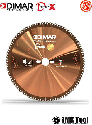 Основна пила DIMAR DFSQ D-TOPX 300 96Z 3.2/2.2 d=30 для розкрою ДСП/МДФ з покриттям D-COAT, фото 2
