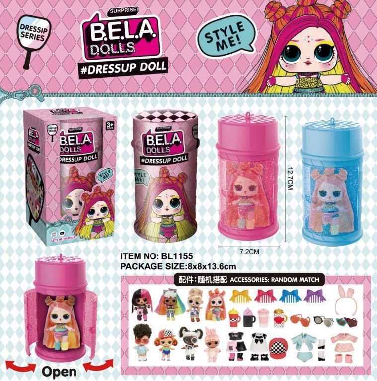 Лялька  LOL Bela Dolls має кольорове волосся капсула 13,5 см  BL1155