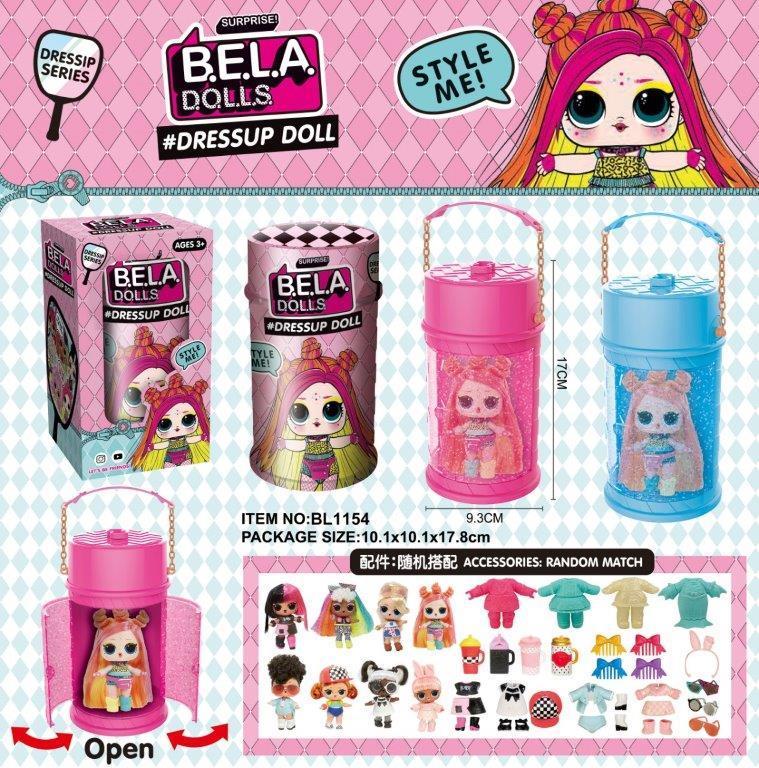 Лялька LOL Bela Dolls має кольорове волосся капсула 16 см  BL1154