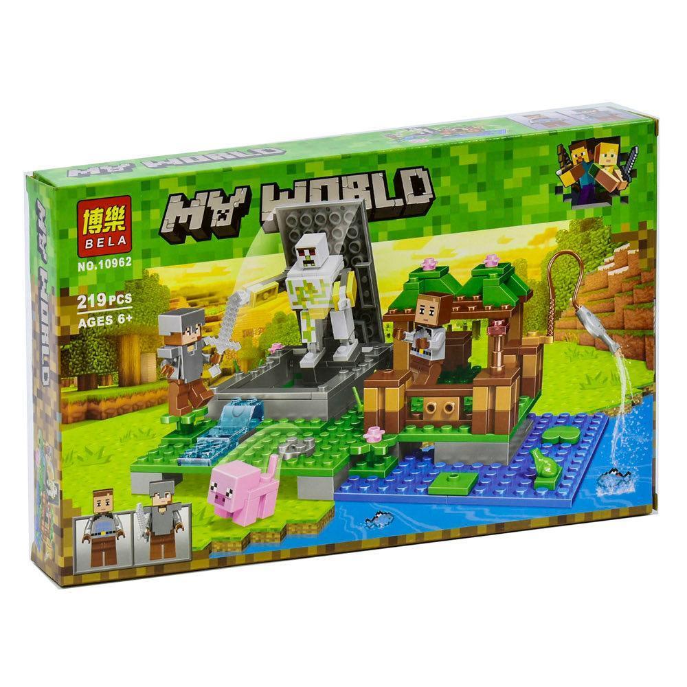 Конструктор Майнкрафт Bela Minecraft Голем на фермі 219 деталей у коробці 10962