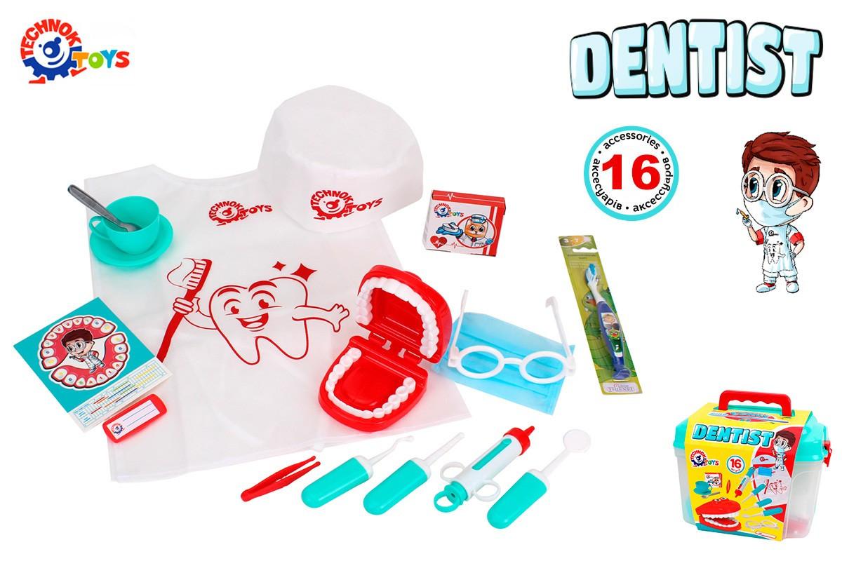 Іграшка ТехноК Набір стоматолога  у саквояжі  7365
