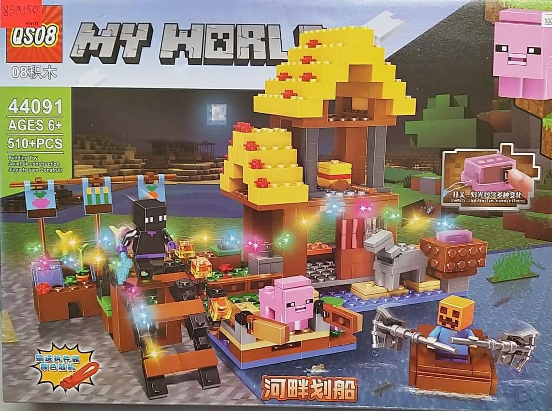 Конструктор Майнкрафт Minecraft світиться 510 деталі в корбці  44091