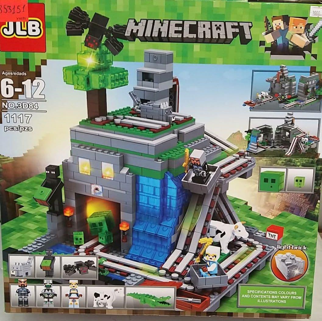 Конструктор Майнкрафт Minecraft світяться блочки 1164 деталі в коробці  JLB 3D84