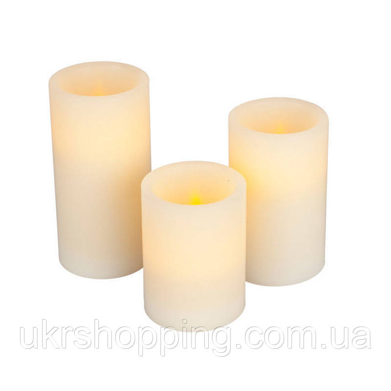УЦІНКА! Світлодіодні LED свічки Luma Candles (3 шт.), декоративні свічки, з доставкою по Києву та Україні