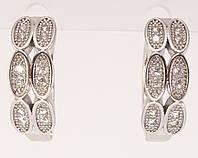 "Серьги M&L колечки ""Орнамент овалы с цирконием"", фото 1"