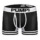 Чоловічі боксери Pump чорного кольору з білою гумкою, фото 3