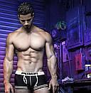 Чоловічі боксери Pump чорного кольору з білою гумкою, фото 4