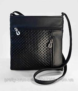 Сумка-планшет женская черная код 9-2