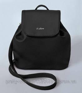 Женский черный мини рюкзак код 9-52