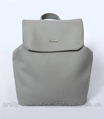 Жіночий сірий рюкзак код 9-53