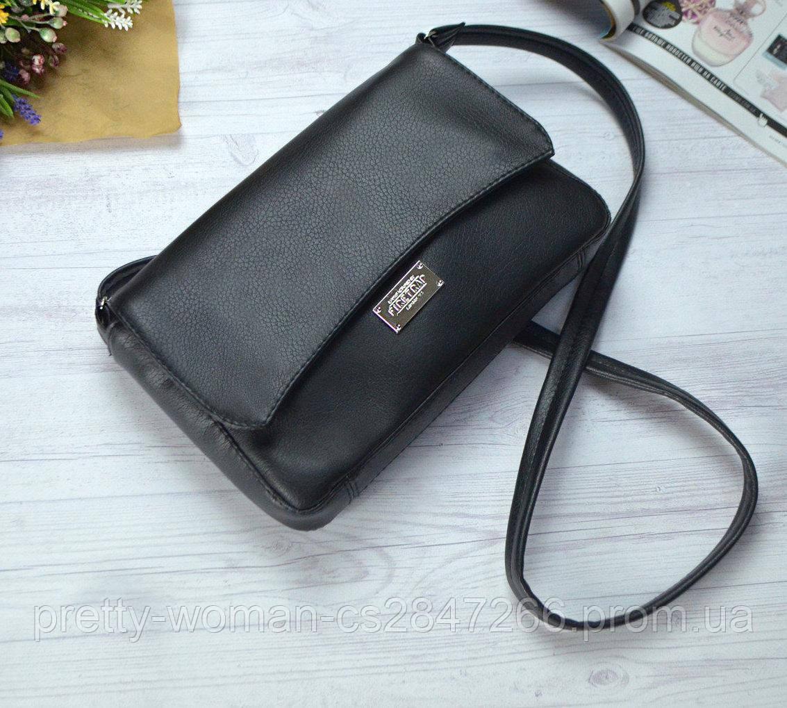 Женская черная сумка клатч код 9-55