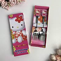 Набор детских столовых приборов для девочек Hello Kitty