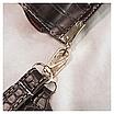 Женская черная сумка тиснение рептилия код 3-423 Уценка, фото 3