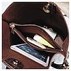 Женская черная сумка тиснение рептилия код 3-423 Уценка, фото 5