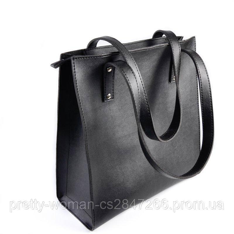 Жіноча чорна містка сумка код 25-187