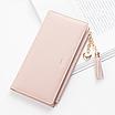 Жіночий рожевий гаманець з пензликом код 367, фото 5