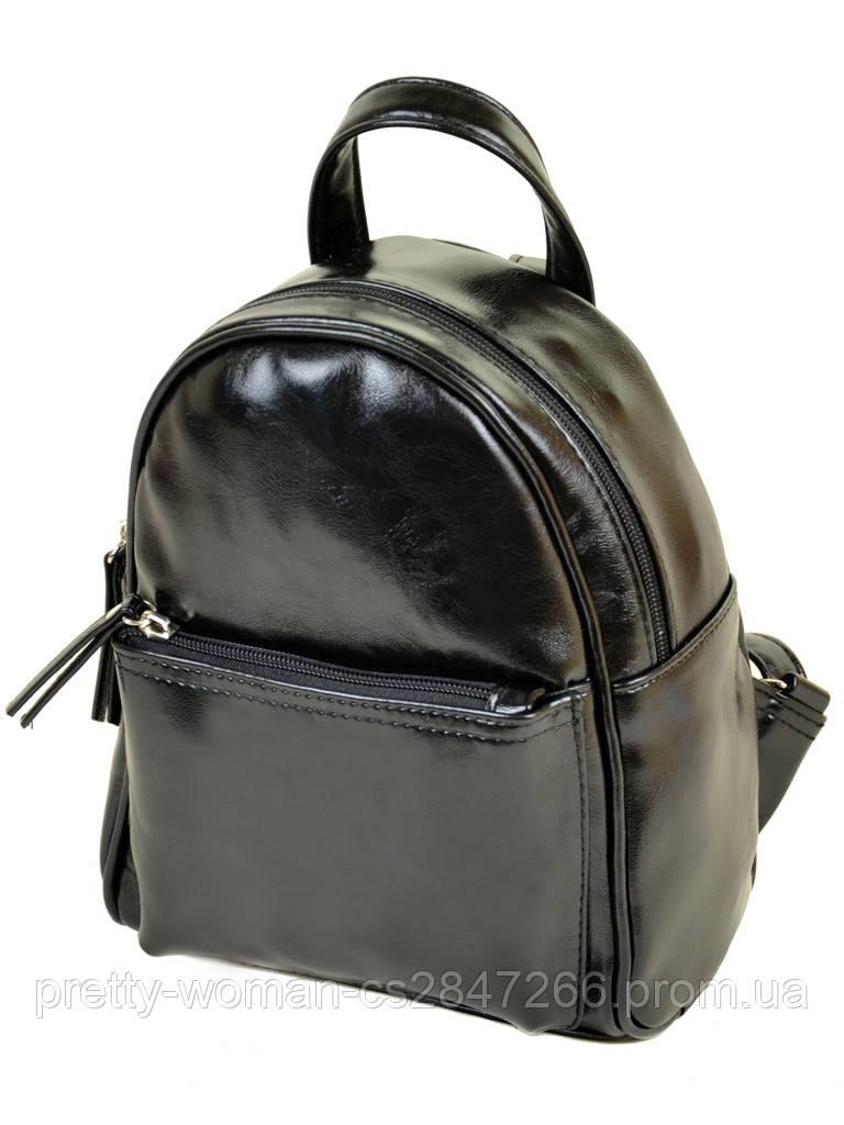 Рюкзак чорний жіночий код 25-160