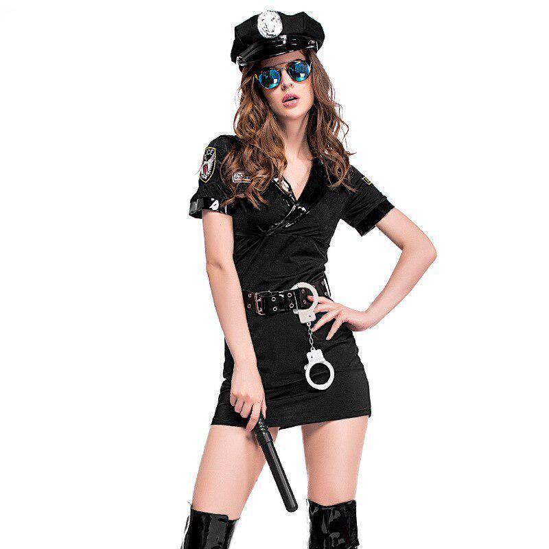 Эротический игровой костюм полицейской Dear Lover Police 1031 Черный