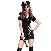 Эротический игровой костюм полицейской Dear Lover Police 1031 Черный, фото 1