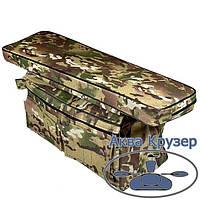 Мягкая накладка на сиденье 710х200х50 мм с сумкой рундуком в лодку ПВХ, цвет камуфляж, фото 1
