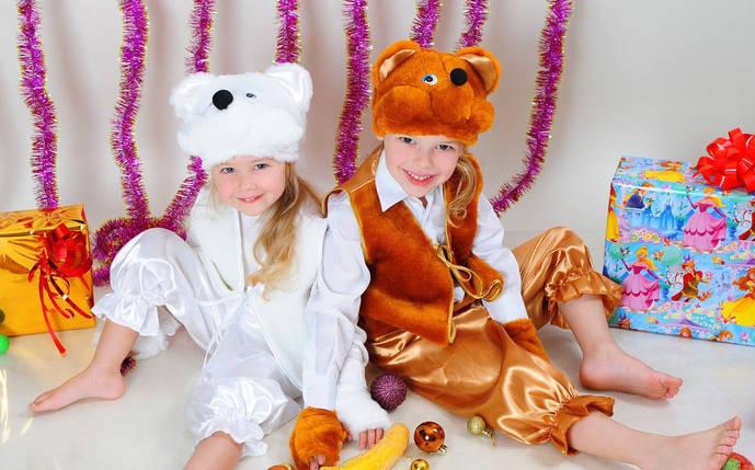 Карнавальный костюм медведя для мальчика коричневый, карнавальные детские костюмы оптом от производителя, фото 2