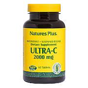 Витамин С, Ultra-C, 2000 мг, Nature's Plus, 60 таблеток