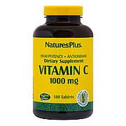 Витамин C, Vitamin C, 1000 мг, Nature's Plus, 180 таблеток
