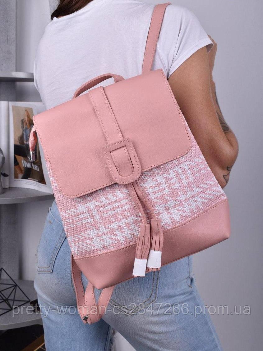 Женский розовый рюкзак код 7-8840