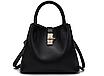 Дизайнерская сумка женская черная код 3-255, фото 2
