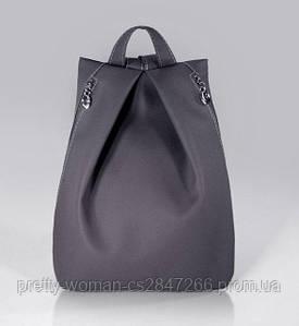 Стильный серый женский рюкзак код 9-25