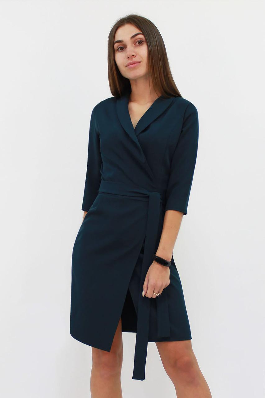 Коктейльное платье на запах Alisa, темно-зеленый