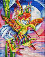 Алмазная вышивка мозаика Brushme Радужные колибри GF3694 40х50см