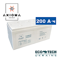 Аккумулятор 200Ач 12В, Свинцово-углеродный AX-Carbon-200, AXIOMA energy