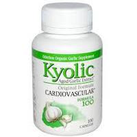 Wakunaga - Kyolic, Выдержанный экстракт чеснока, оригинальная формула, 100 капсул