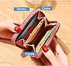 Небольшой женский розовый кошелек с вышивкой код 392, фото 2